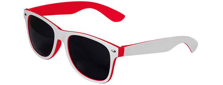 White / Red Retro In&Out Sunglasses