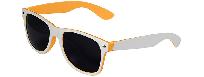 Retro In&Out Sunglasses style White / Orange