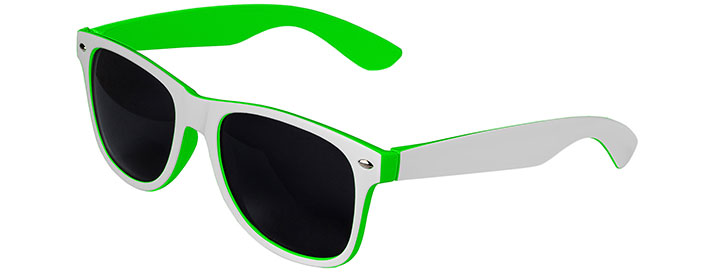 Retro In&Out Sunglasses style White / Green