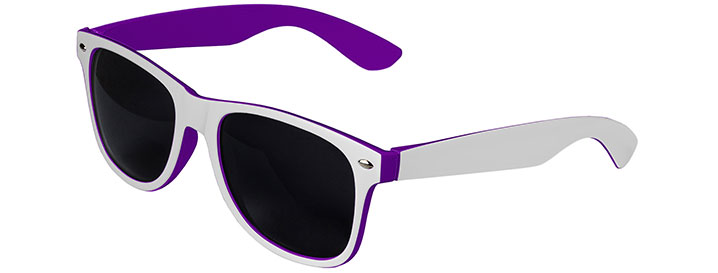 Retro In&Out Sunglasses style White / Purple