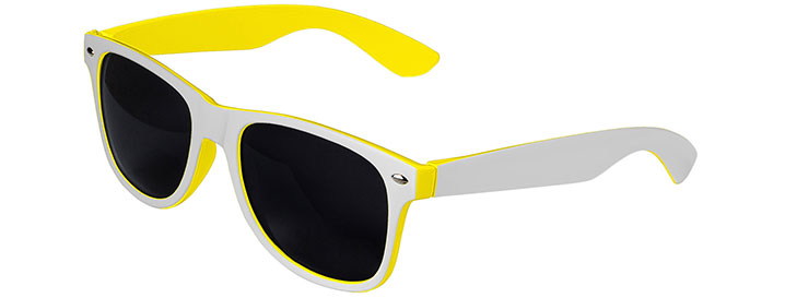 Retro In&Out Sunglasses style White / Yellow