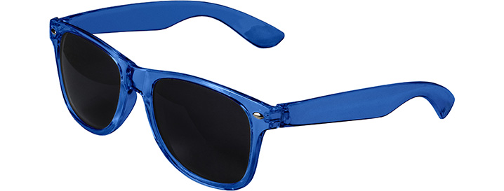 Retro Transparent Sunglasses style Transparent Blue
