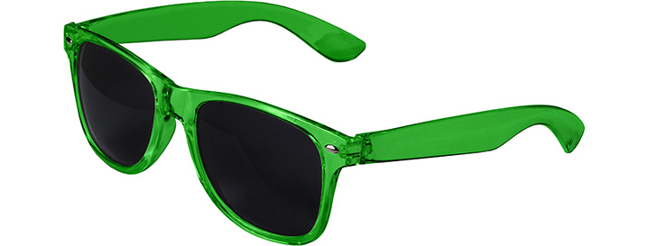 Retro Transparent Sunglasses style Transparent Green