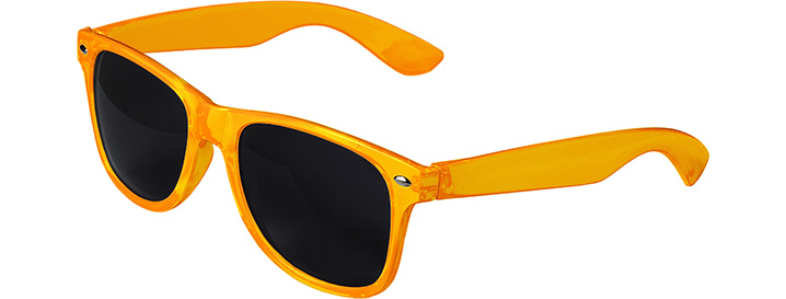 Retro Transparent Sunglasses style Transparent Orange