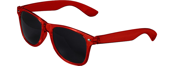 Retro Transparent Sunglasses style Transparent Red