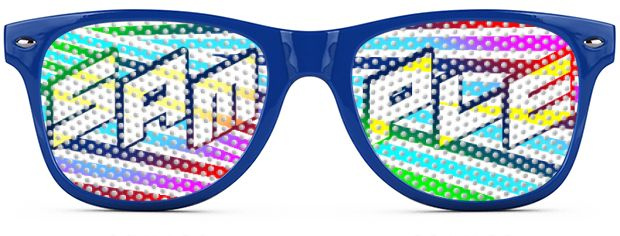 Retro Logo Lenses® style Royal Blue