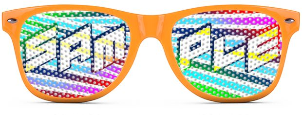 Retro Logo Lenses® style Neon Orange