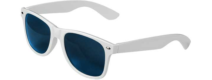 Retro Sunglasses style White - Gold Mirror