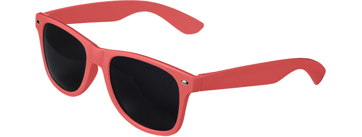 Coral Retro Sunglasses