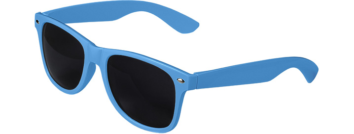 Neon Blue Retro Sunglasses