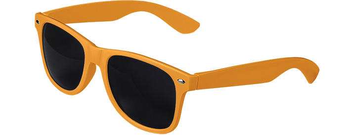 Retro Sunglasses style Neon Orange