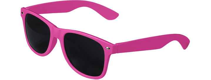 Neon Pink Retro Sunglasses