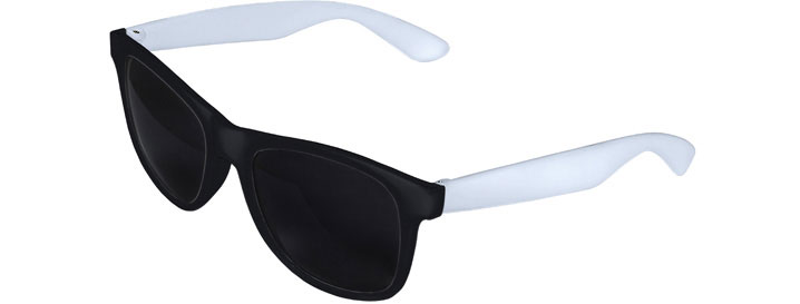 Retro 2 Tones Sunglasses style Black Front - White