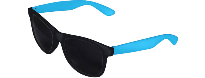 Retro 2 Tones Sunglasses style Black Front - Blue