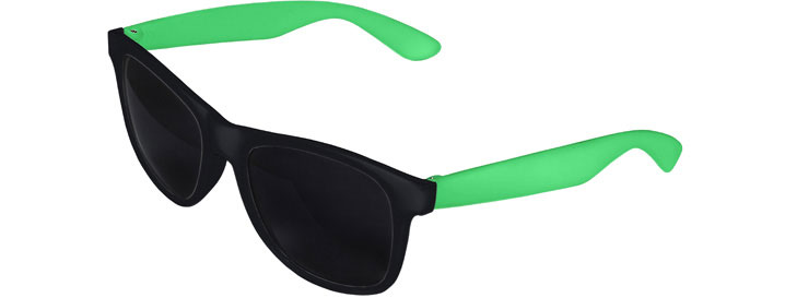 Retro 2 Tones Sunglasses style Black Front - Green