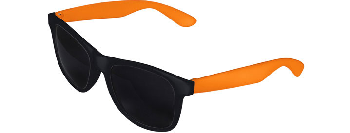 Retro 2 Tones Sunglasses style Black Front - Orange