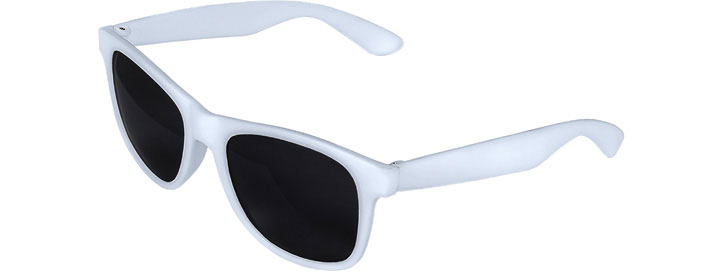 White Front - White Retro 2 Tone Sunglasses