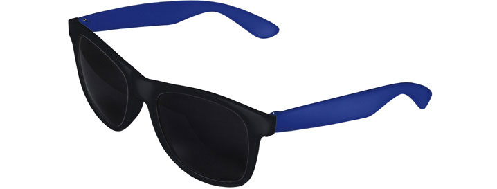 Retro 2 Tones Sunglasses style Black Front - Royal Blue
