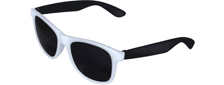 White Front - Black Retro 2 Tone Sunglasses