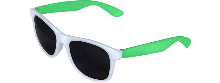 White Front - Green Retro 2 Tone Sunglasses