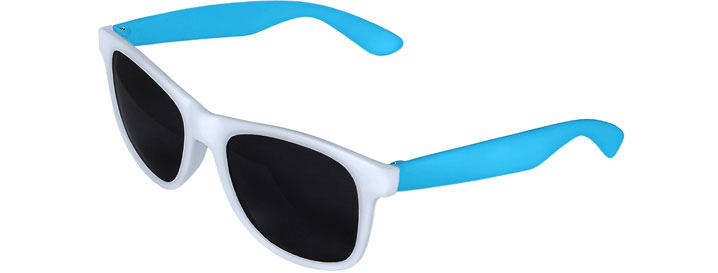 White Front - Blue Retro 2 Tone Sunglasses