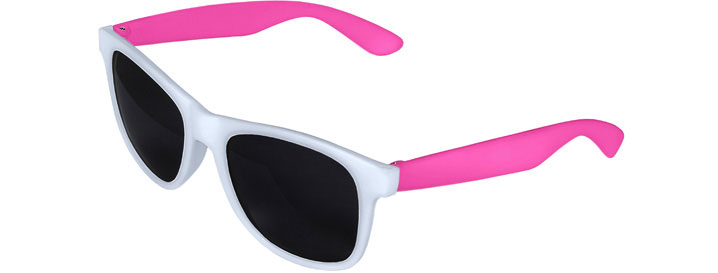White Front - Pink Retro 2 Tone Sunglasses