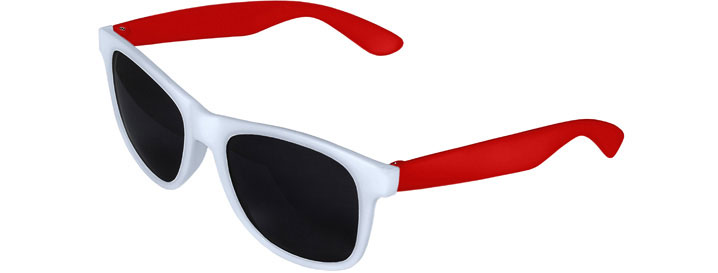 White Front - Red Retro 2 Tone Sunglasses
