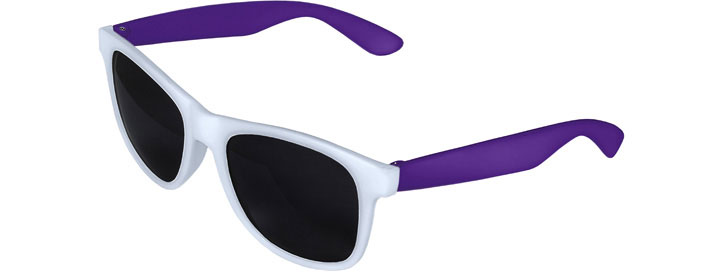 Retro 2 Tones Sunglasses style White Front - Purple