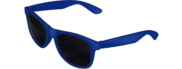 Royal Blue Front - Royal Blue Retro 2 Tone Sunglasses