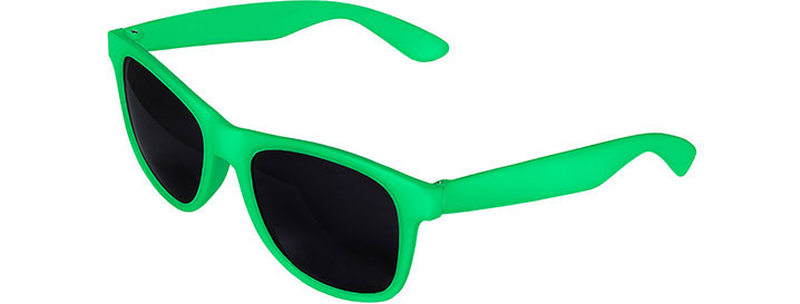 Green Front - Green Retro 2 Tone Sunglasses