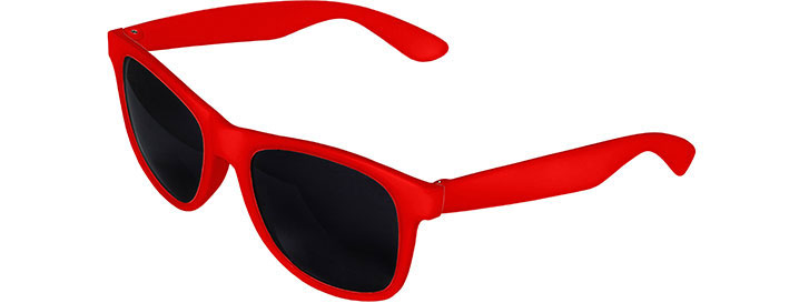 Retro 2 Tones Sunglasses style Red Front - Red