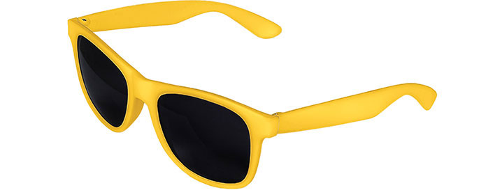 Yellow Front - Yellow Retro 2 Tone Sunglasses
