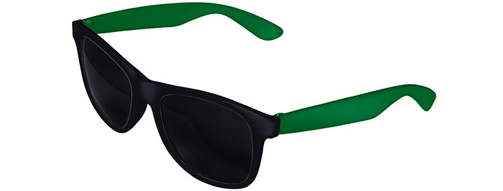 Retro 2 Tones Sunglasses style Black Front - Kelly Green