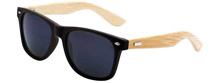 Black Retro Bamboo Sunglasses