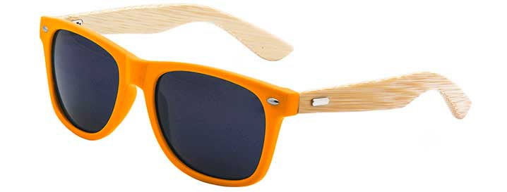 Retro Bamboo Sunglasses style Neon Orange