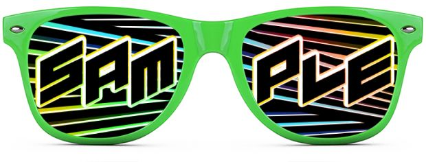 Custom Tinted Direct-To-Lenses style Neon Green