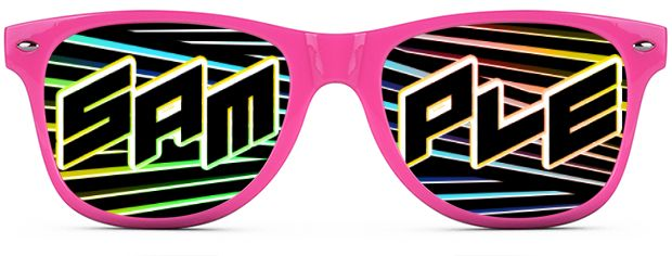 Custom Tinted Direct-To-Lenses style Neon Pink