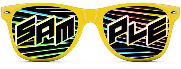 Custom Tinted Direct-To-Lenses style Neon Yellow