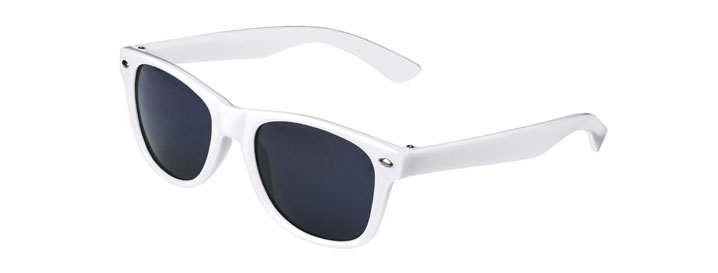 White Retro Kids Sunglasses