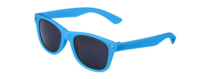 Neon Blue Retro Kids Sunglasses
