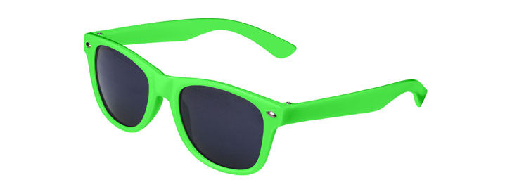 Neon Green Retro Kids Sunglasses