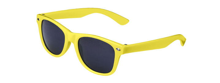 Neon Yellow Retro Kids Sunglasses