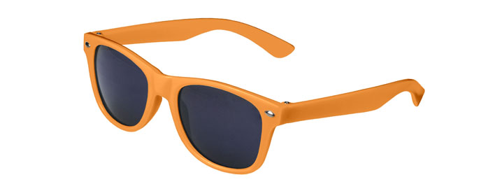 Neon Orange Retro Kids Sunglasses