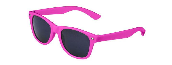 Neon Pink Retro Kids Sunglasses