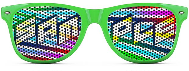 Retro Logo Lenses® Tinted Lenses style Neon Green