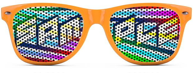Retro Logo Lenses® Tinted Lenses style Neon Orange