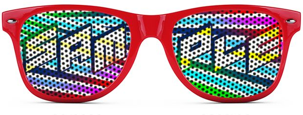 Retro Logo Lenses® Tinted Lenses style Red