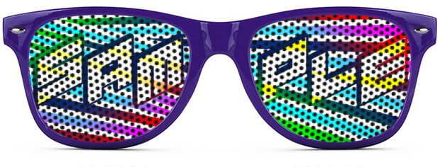 Retro Logo Lenses® Tinted Lenses style Purple