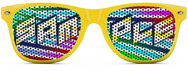 Retro Logo Lenses® Tinted Lenses style Neon Yellow