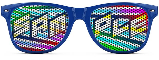 Retro Logo Lenses® Tinted Lenses style Royal Blue